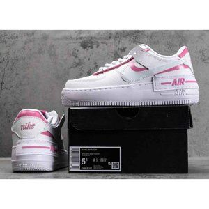 Womens Air Force 1 Low Shadow Magic Flamingo Pink